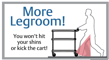 MyCart Ergonomic Leg Room